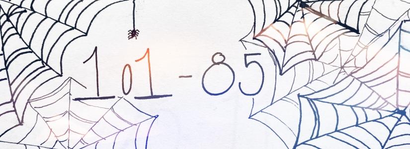 101 - 85, background of spiderwebs