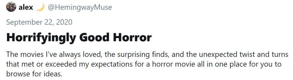 image links to Horrifyingly God Horror Moment on twitter